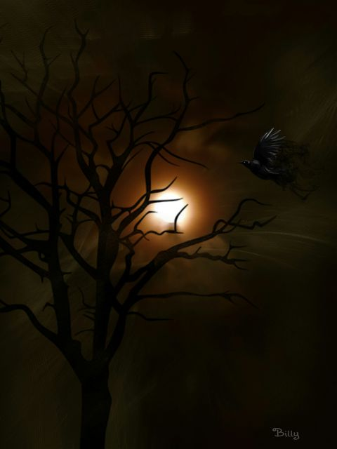 music surreal moon texturemask tree