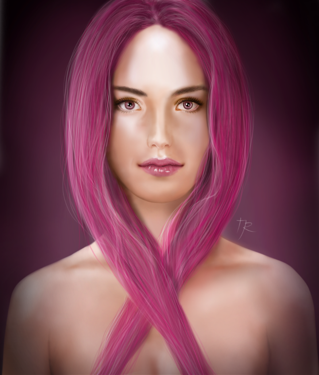 Drawn for Breast Cancer Awareness month. Done with Krita on a Microsoft Surface Pro 2 #drawing #digitaldrawing #breastcancerawareness #digitalpainting