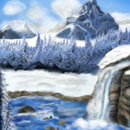 drawing dcmountains mountains winter landscape
