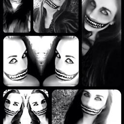halloween creepy hello smile black