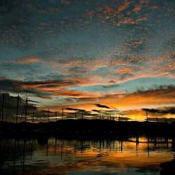 sunsetsilhouette nature sky