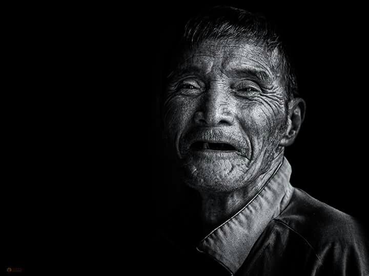 An old man  #people   #portrait  #wapblackandwhite  #WAPBLACKANDWHITE #bw   #Oldman  #man  #blackandwhite  #candid  #smile   #street   #Asian  #Vietnam #Saigon