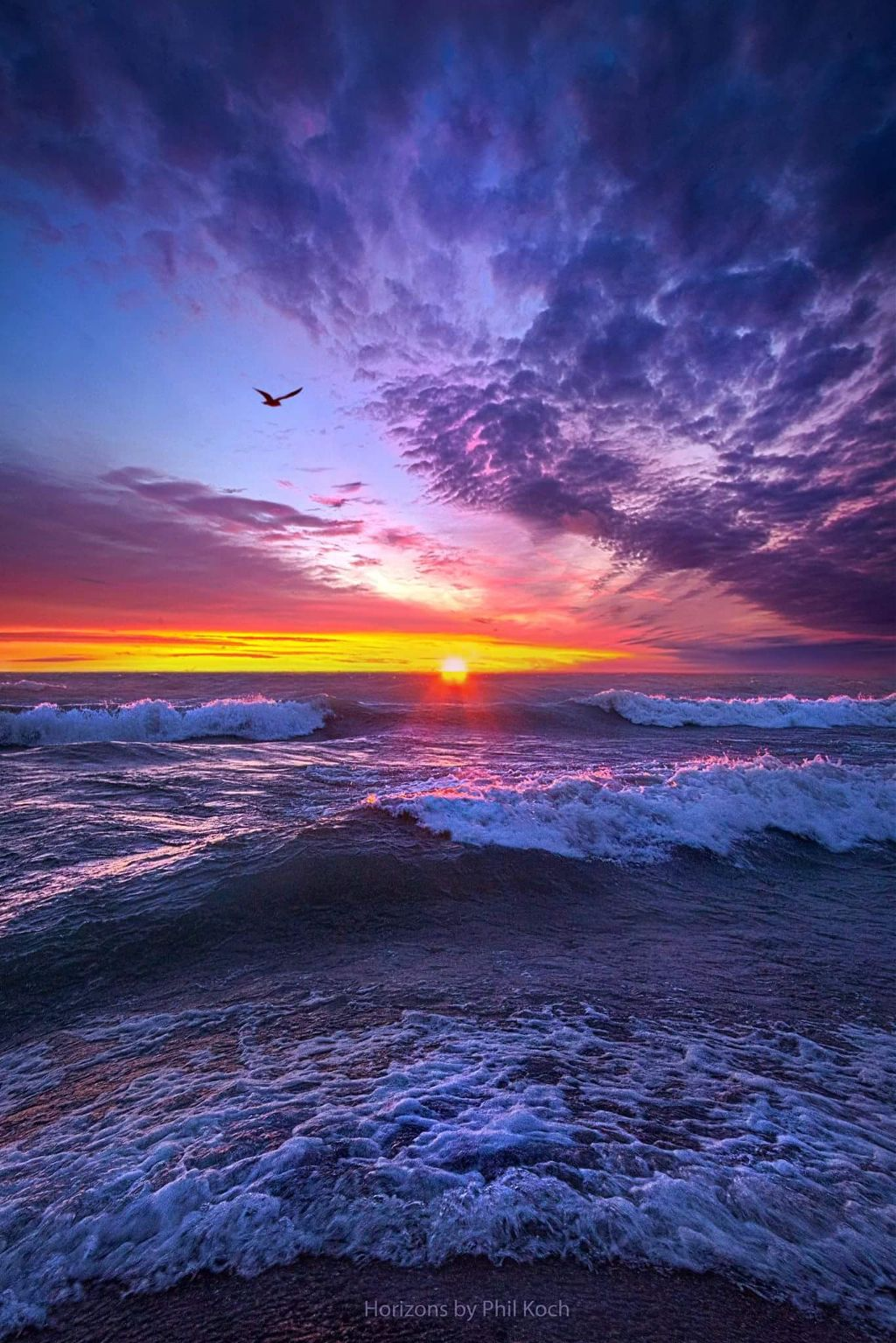 Sunrise on Lake Michigan in Wisconsin.  #peace #sunrise #beautiful #Nature  #water scape #water #seascape