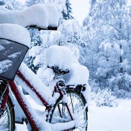 bike bicycle snow winter