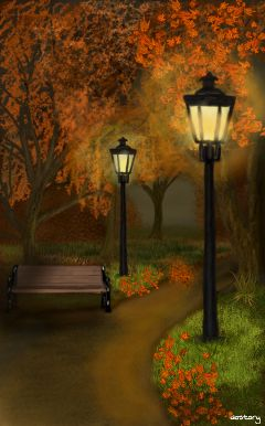 wdpAutumn drawing digitaldrawing autumn fall lantern