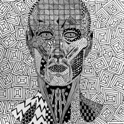 art zentangleart face how