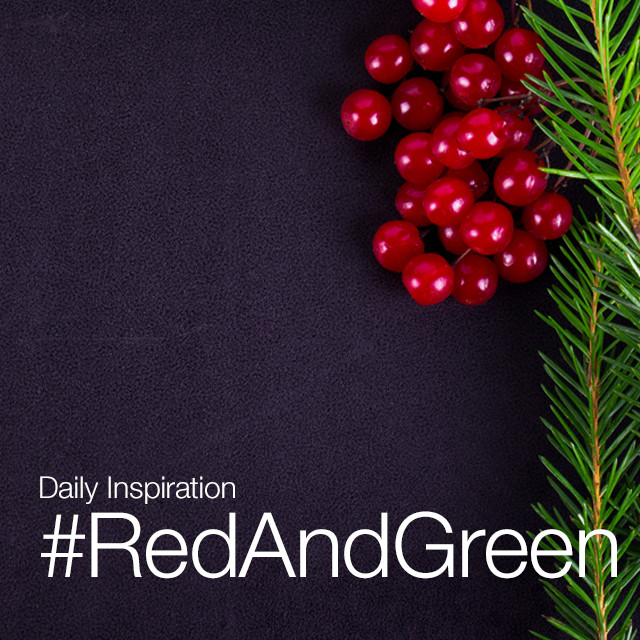 Capture the colors of the holidays and fill your photos with red and green this Sunday! Share them with the hashtag #RedAndGreen.