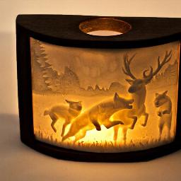 winter nature lampiony lanterns