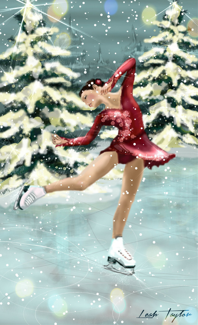 #wdpholiday Christmas Skate  See the drawing video @ http://youtu.be/1W3Orb2R1EQ and as always, thanks for voting! ♡  #drawing #artwork #people #Christmas #snow