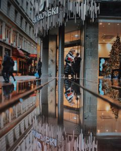 picsart street rain swarovski reflection