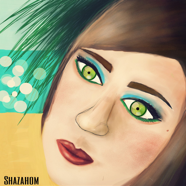 this pic was edited & drawn by me for @rojo61  =============================  #shazahom1 #edit  #drawing #wdpportrait #emotions