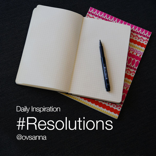 Commit to your New Year's resolutions with the hashtag #resolutions, and let the world know what you want to improve this year. Feel free to combine photos and text!