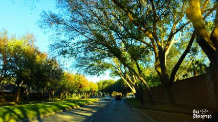 urban winter sunny colorful