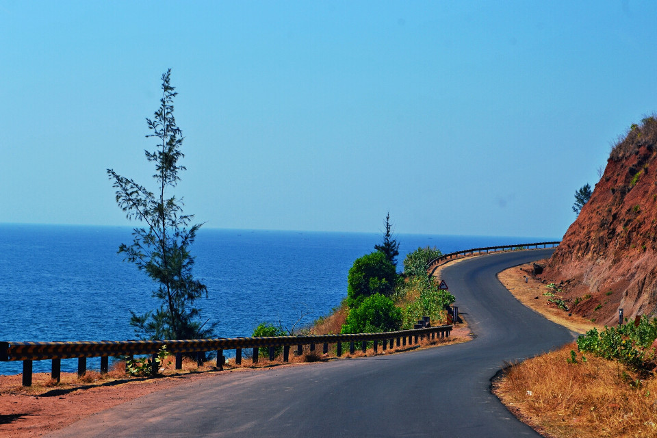 Clear skies, blue sea, empty road...#vanishingpoint #nature #travel #photography