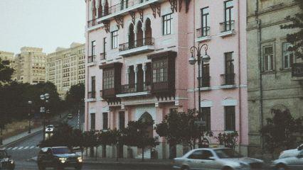 baku azerbaijan buildings grunge vscocam