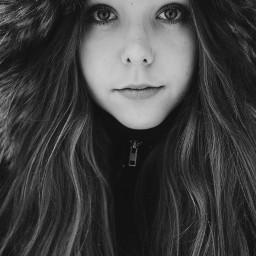 girl winter cold bw blackandwhite