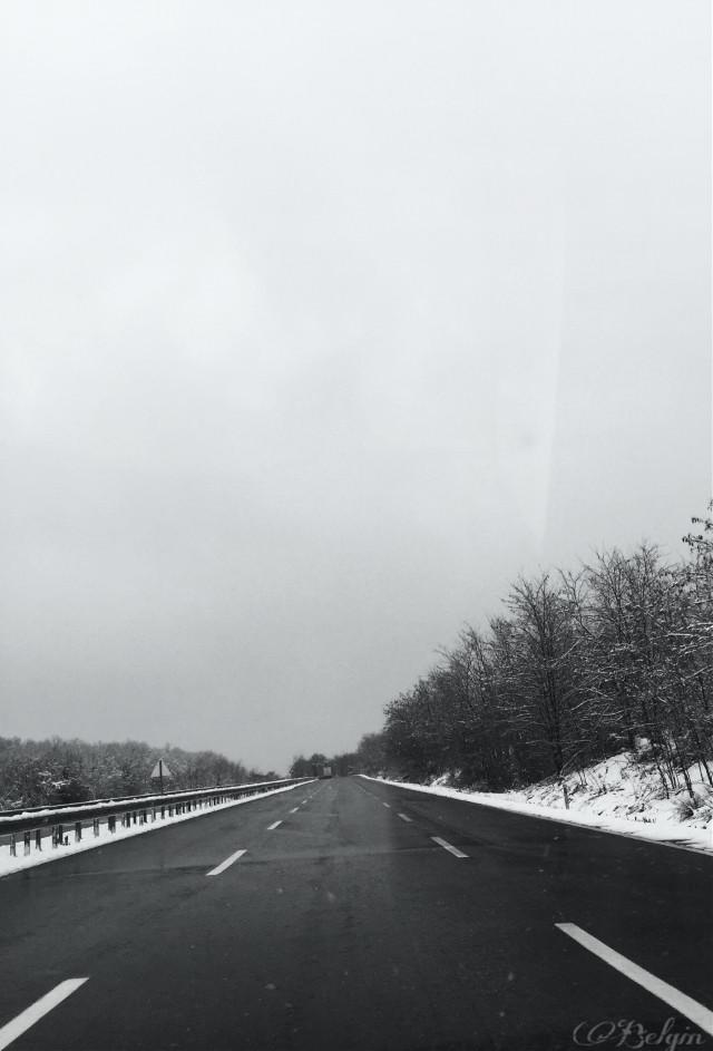 #winter  #snow  #way #travel  #blackandwhite #photography