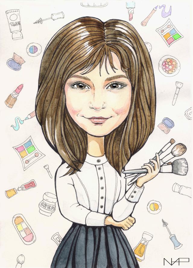#portrait #sketchbook #ink #graphic #watercolors