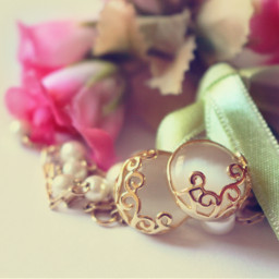 vintage flowerarrangement vintageeffect earrings women