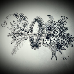 blackandwhite drawing flower emotions