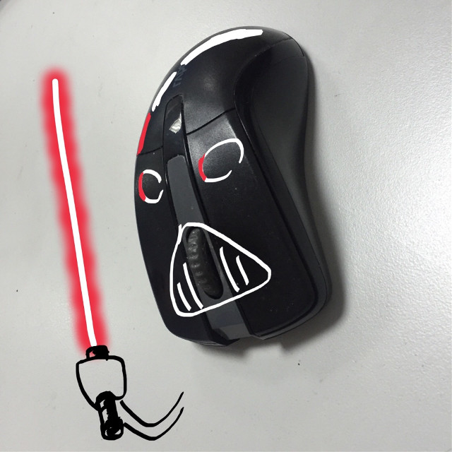 The dark side of a mouse...