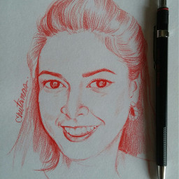 me sketch pencilart red by