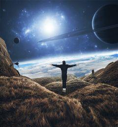freetoedit universe people surealism looking