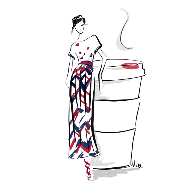 A little Marc Jacobs and a little morning brew #fashion #coffee #monicaleeart