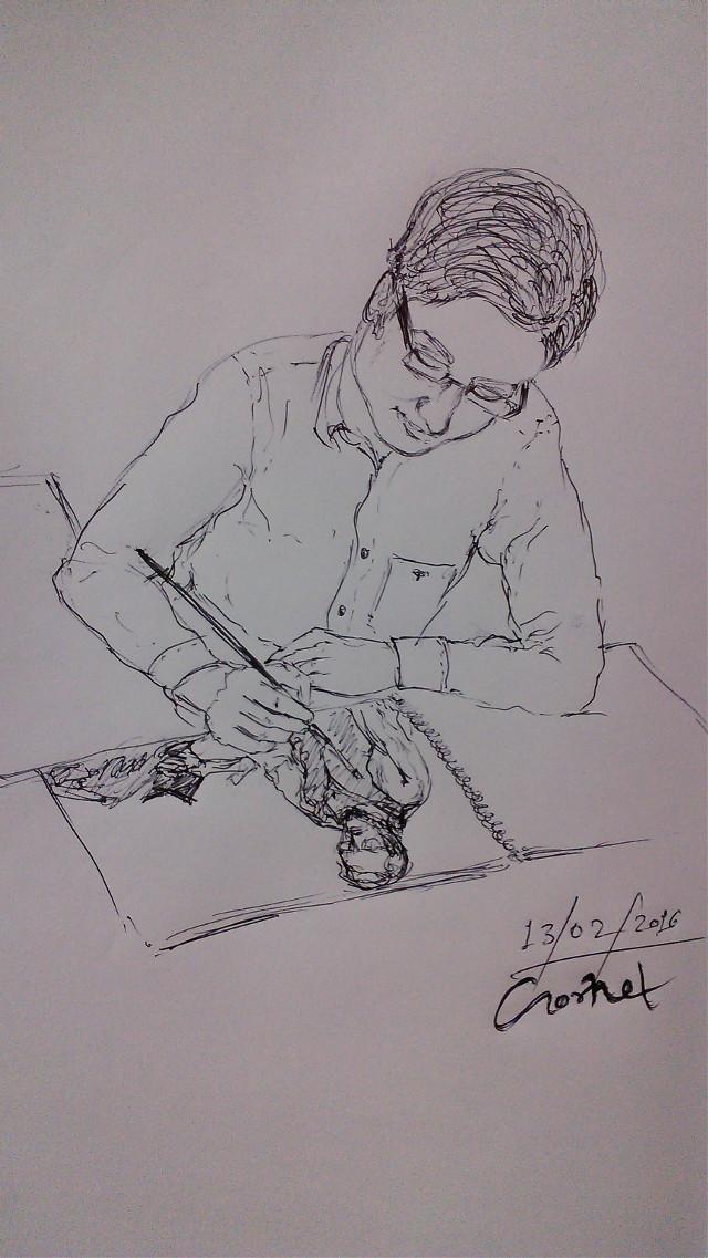 A Rough sketch of Kumar shubham bro!...made by Gornet..#pen art