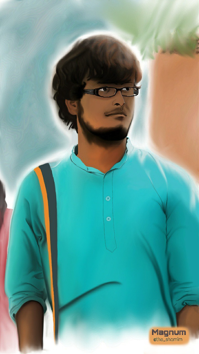 Digital Portrait of a friend #goodolddays #friends #reunion #traditional_clothing #portrait #digitalink