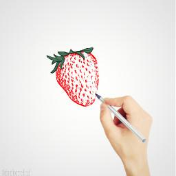 strawberry madewithpicsart freetoedit
