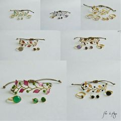 pulsera handmade imvitadaperfecta anillo pendientes