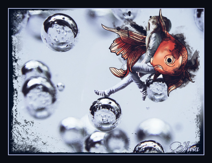 #bubbles #fantasy #dream #myedit fte by @ahphoto and @grig15  #edited by myself colored #clipart with #drawingtool