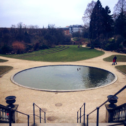 copenhagen botaniskhave garden pool fountain