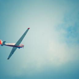 plane sky blue