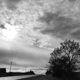 sky oklahoma ruralamerica blackandwhite smalltown