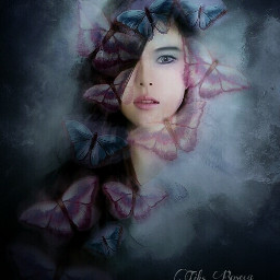 art emotions colorful butterfly fantasy