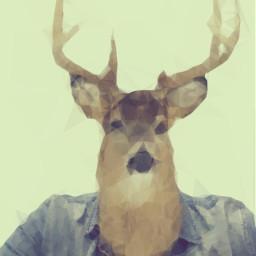 deer deerhead anthropomorphic deerpeople art