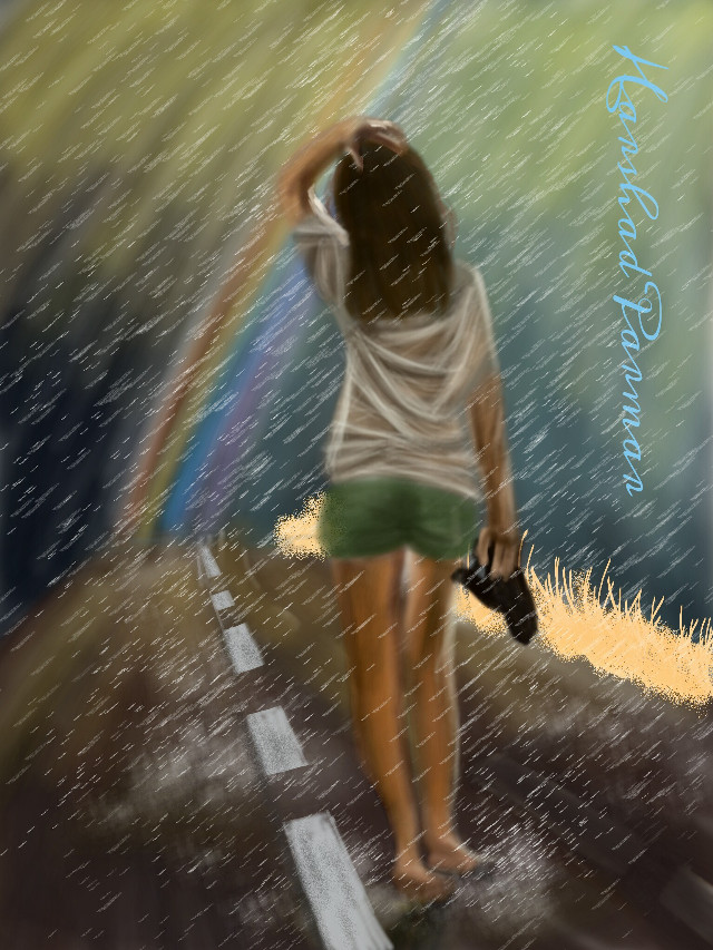 #wdprainyday #rainyday #women #digital #rainbow#nature  Hope u all like it my friends. Thanx in advance for ur likes, vote, & repost if any.