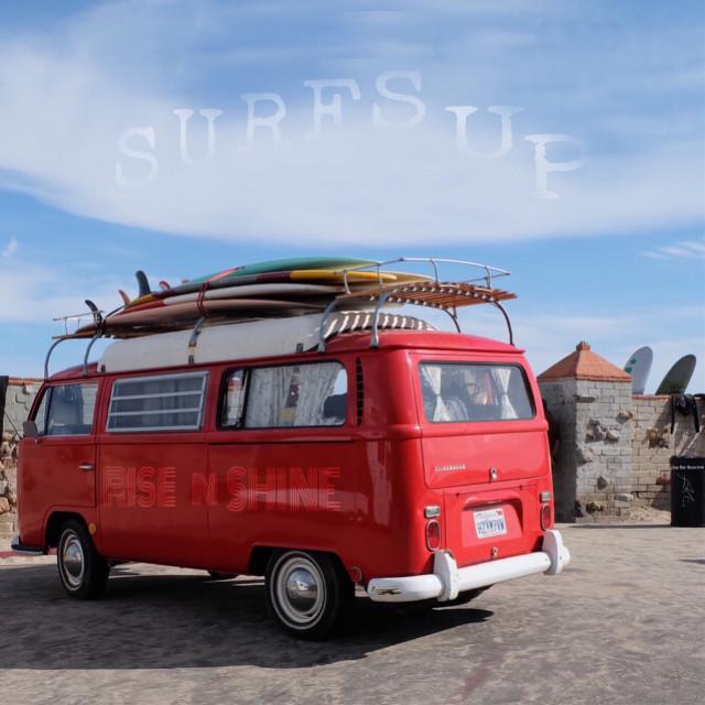 #goodmorning #textoverlay #classicvwbus #retro #surfboards #photosfromthebeach