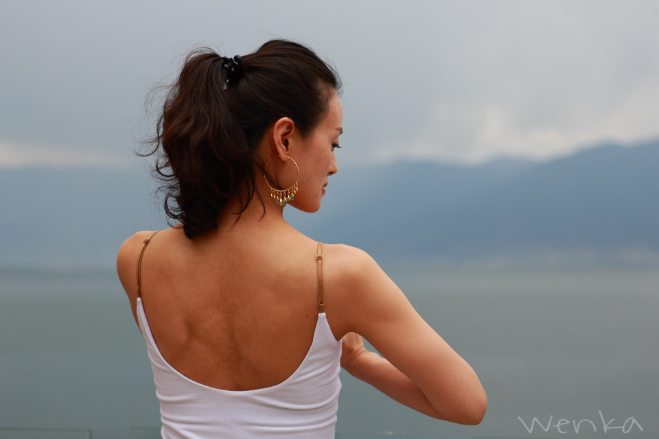 HuaYin Hotel,Erhai Lake,Da Li City  #woman #people #travel #yoga