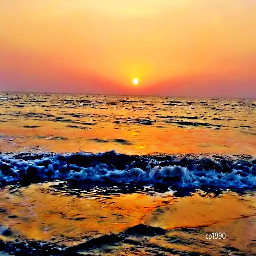 sunset summer beach nature colorful