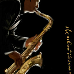 wdpjazz jazz sexaphone digital drawing