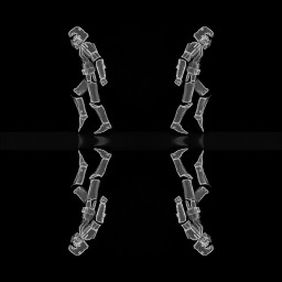 starwars stormtroopers reflection blackandwhite robots